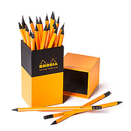 RHODIA - Box of Black-Wood Triangular Pencils