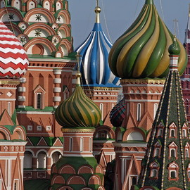 St. Basil's details, Moscow, Russia