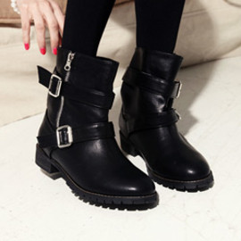 Dholic - Engineer boots with buckles