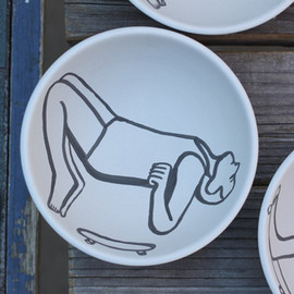 Geoff McFetridge for Heath Ceramics - My Head Disappears When My Hands Are Thinking