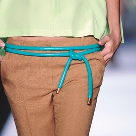 DVF - blue rope belt