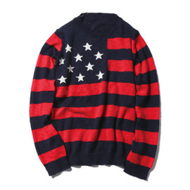 SOPHNET. - Stars&Stripes Crew Neck Knit