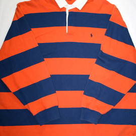 POLO RALPH LAUREN - Vintage Polo by Ralph Laure Blue / Orange Polo Shirt Mens Size XXL