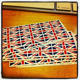Supreme - union jack sticker mini