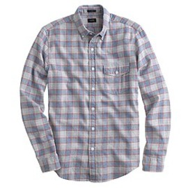 J.CREW - Slim brushed twill shirt in authentic red check