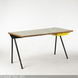 Jean Prouvé - Antony Desk from Cite Universitaire, Drawer designed by Charlotte Perriand
