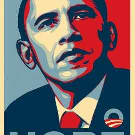 Shepard Fairey - OBAMA HOPE