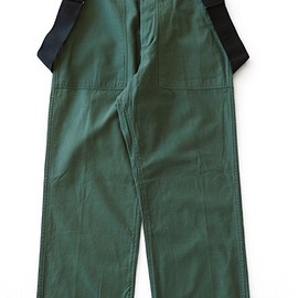 TOGA ODDS&ENDS - Rubber Print Pants w/SUS (green)