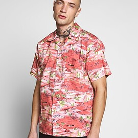 REPLAY - Replay - Chemise - pale red japanese landscape