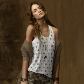 RALPH LAUREN Denim & Supply - Studded Jersey Scoopneck Tank