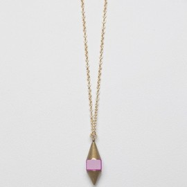 Garnett Jewelry - Cubed Pendulum Necklace