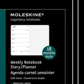 MOLESKINE - 2012 18 Month Weekly Notebook Black Hard Cover