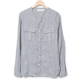 nonnative - ROAMER SHIRT - COTTON HICKORY STRIPE