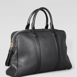 TOM FORD - Small Buckley Duffel Tote Black Leather Zip
