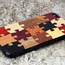 Puzzle iPhone 5 Real Wood Skin (Front & Back Cover) Made in the USA - FREE Shipping