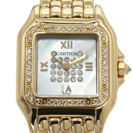 Cartier - LU Panthere Factory Diamond MOP 18K Gold Watch