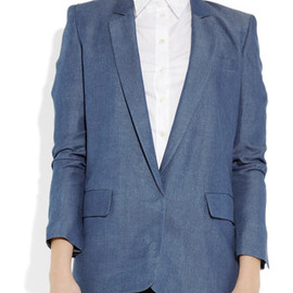 ACNE - ACNE Blake Denim Chambray Blazer 1