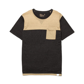 White Mountaineering - LINEN JERSEY CONTRAST T-SHIRT