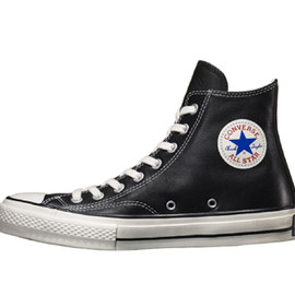 CONVERSE addict - CHUCK TAYLOR BLACK LEATHER HI