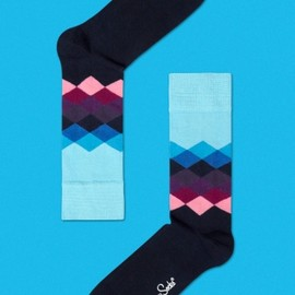 Happy Socks - Faded Diamonds Sock