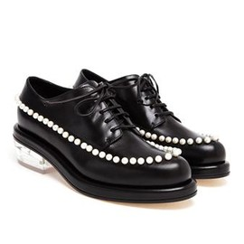 SIMONE ROCHA - SIMONE ROCHA - Pearl Embellished Leather Loafers