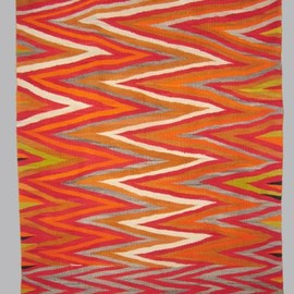Unknown Artist - Navajo Vintage Transitional Textile with Wedge Weave, c.1890