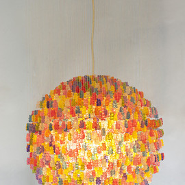 Kevin Champeny - Chandelier Made from 3,000 Gummy Bears by Kevin Champeny multiples lighting candy bears