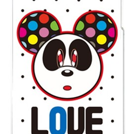 SECOND SKIN - Love Panda ブラックドット (クリア) design by Moisture / for iPhone 4S/SoftBank