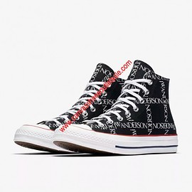 CONVERSE - Converse Shoes x JW Anderson Chuck 70 Grid Canvas High Top Black