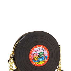 BETSEY JOHNSON - RETRO RECORD CROSSBODY BLACK