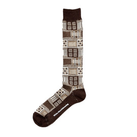 White Mountaineering - MULTI PATTERN JACQUARD LONG SOCKS