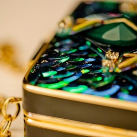 Tory Burch - Tory Burch Fall 2013,green bijoux clutch