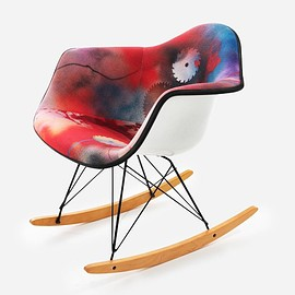 FUTURA2000, Modernica - Bedford Ave and East Broadway Upholstered Arm Shell Rocker