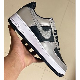 NIKE - Air Force 1 B - Black/Silver/Black