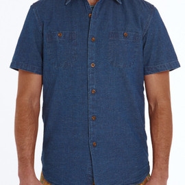 FAHERTY - SS Stinson Workshirt - Selvage Shuttle Chambray