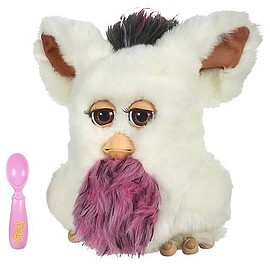 Tiger Electronics - Furby 2005  white with pink&black