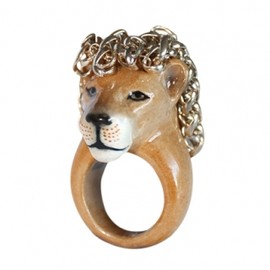 nach - Lion with hair ring