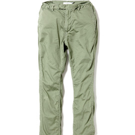 nonnative - DRIVER PANTS - COTTON ARMY CLOTH OVERDYED