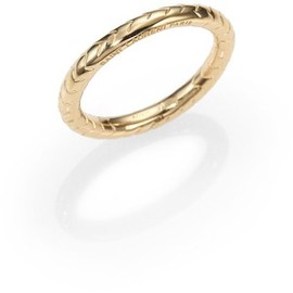 Yves Saint Laurent - Saint Laurent Snakeskin-Inspired Band Ring