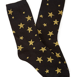 FOREVER 21 - Metallic Star Socks