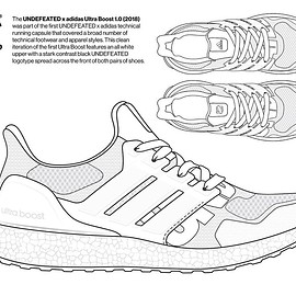 UNDEFEATED, adidas - Coloring Book - Consortium Ultra Boost 1.0