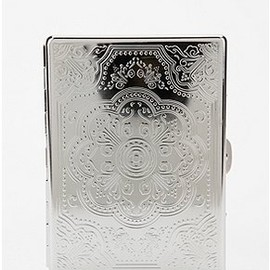 urban outfitters - Embossed Metai ID case
