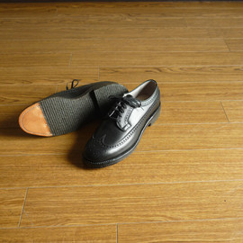 ALDEN - Long Wing-Tip - Military Last / Austin Bends Black