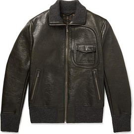Bottega Veneta - Waxed-Leather Bomber Jacket
