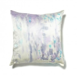 Aviva Stanoff - Aviva Stanoff Spots Silk and Suede Pillow - Blue/Purple
