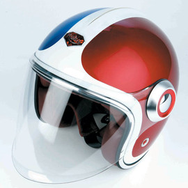 Les Ateliers Ruby - Belvedere Helmet, French colors (blue, white, red)