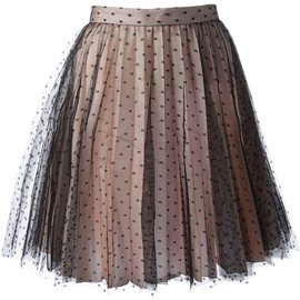 RED VALENTINO - bi-colour lace skirt