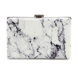 BALENCIAGA - Printed leather box clutch
