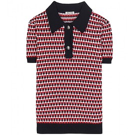 miu miu - Knitted polo shirt