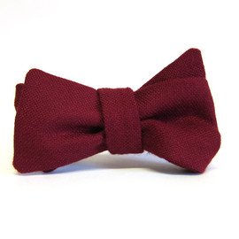 Charles Olive - Plain Lambswool - Burgundy Red